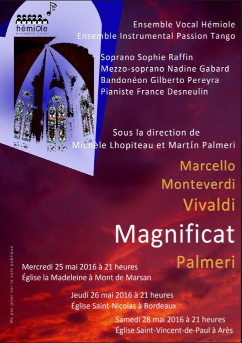 Affiche magnificat 3 dates 2017