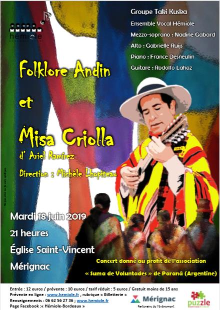 Affiche misa criolla